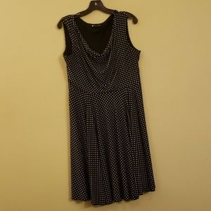 Black Dress with White Polka-dots